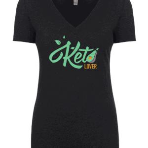 keto lover v-neck t-shirt